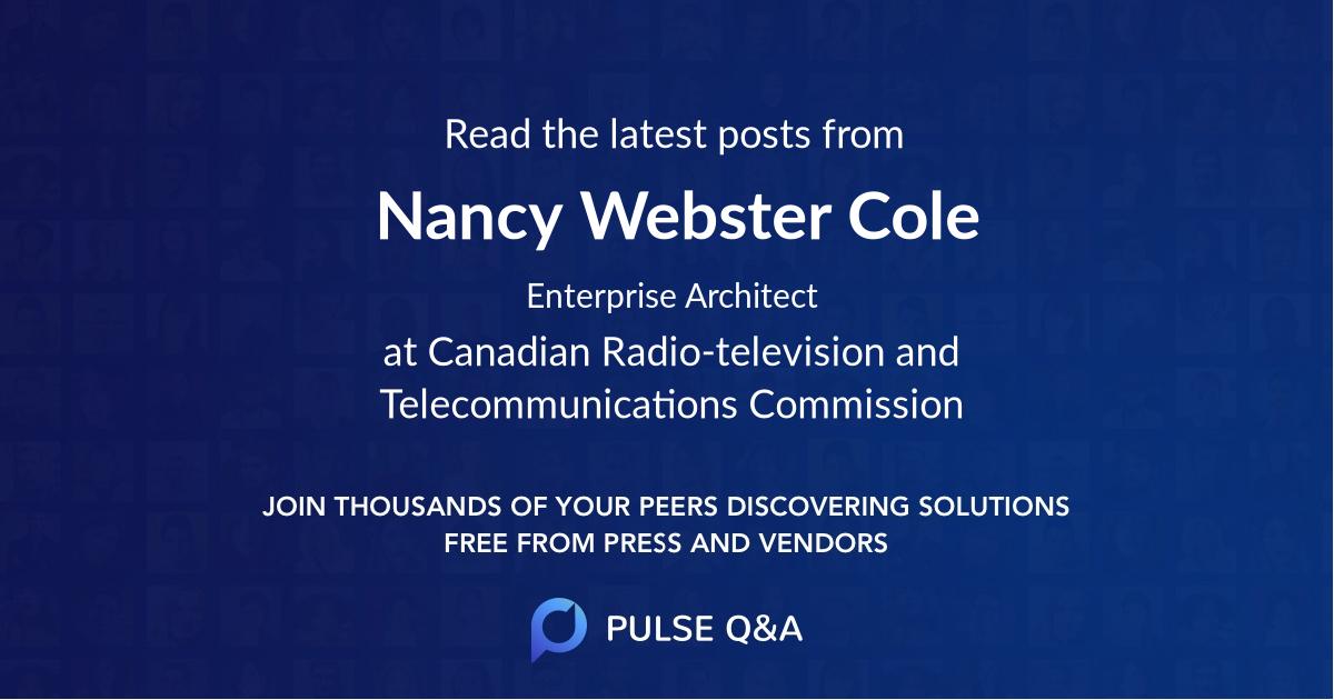 Nancy Webster Cole