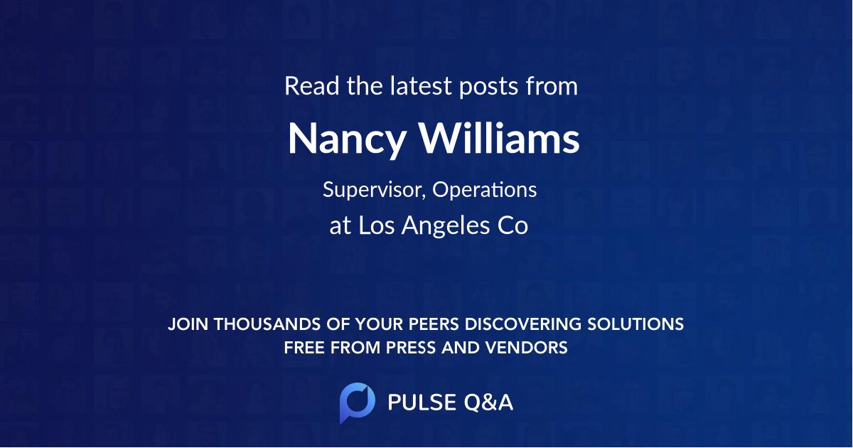 Nancy Williams