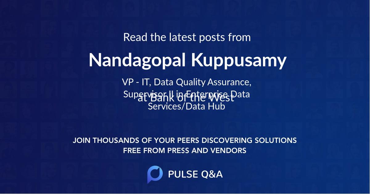 Nandagopal Kuppusamy