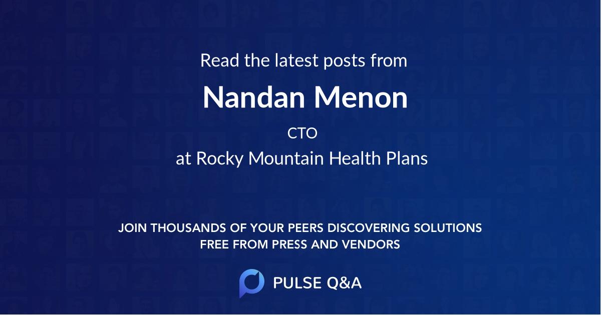 Nandan Menon