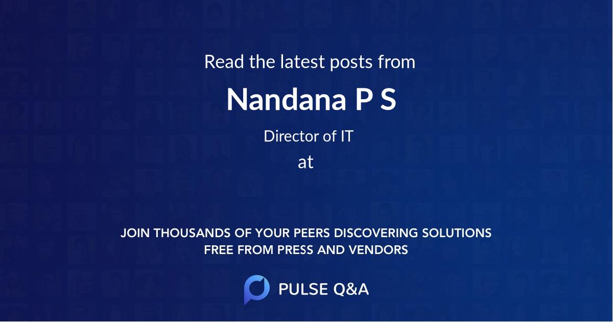 Nandana P S
