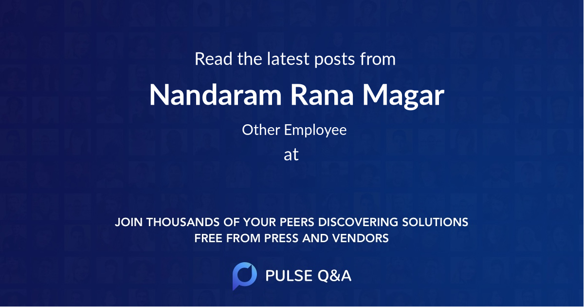 Nandaram Rana Magar
