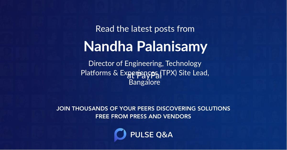 Nandha Palanisamy