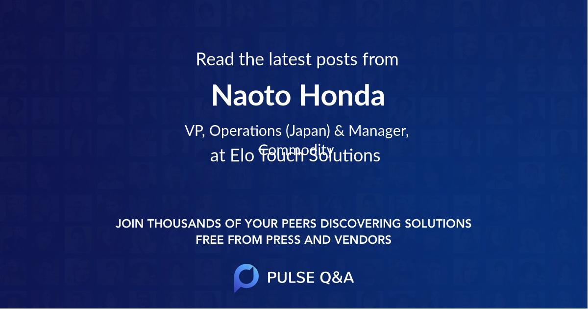 Naoto Honda