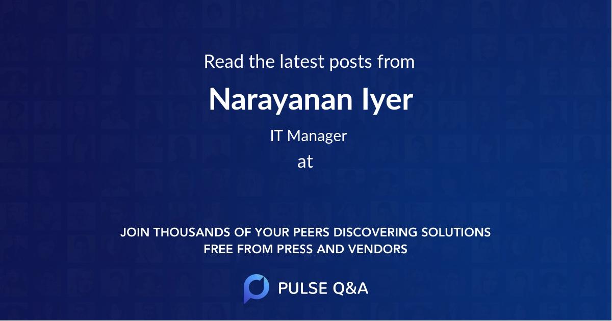 Narayanan Iyer