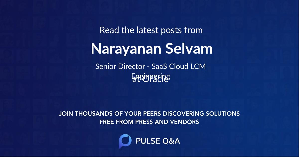 Narayanan Selvam