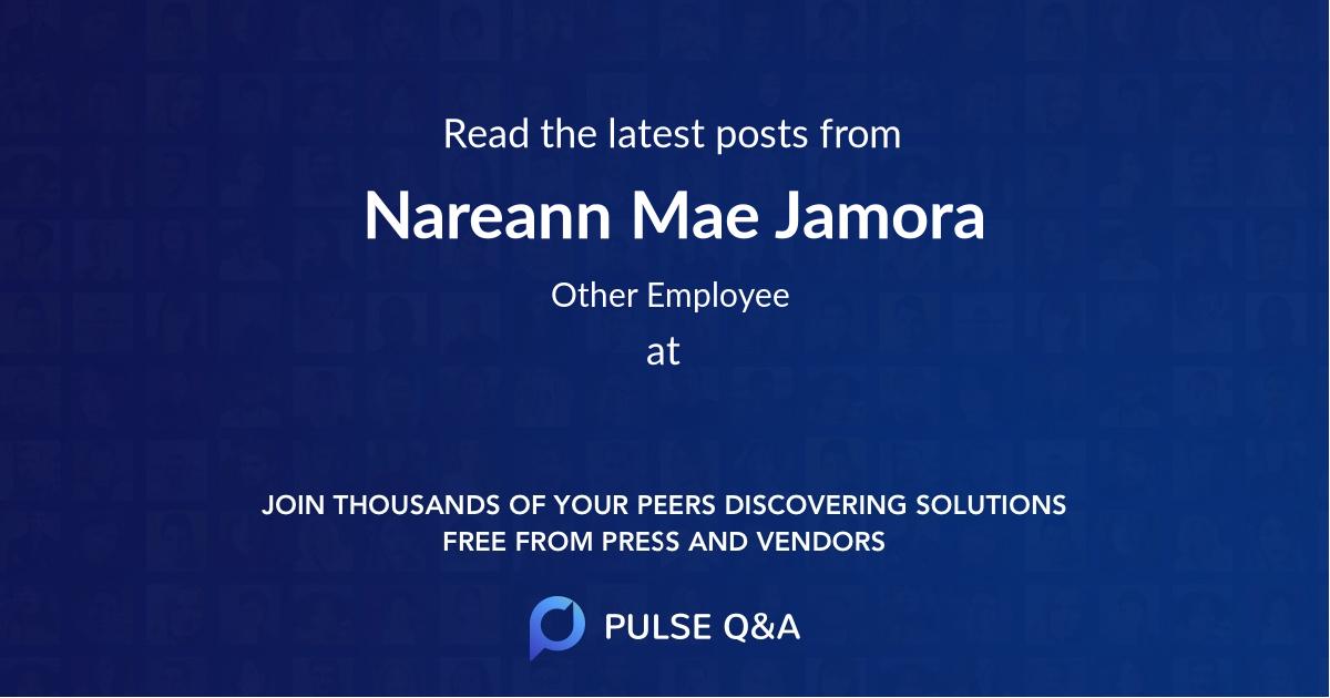 Nareann Mae Jamora