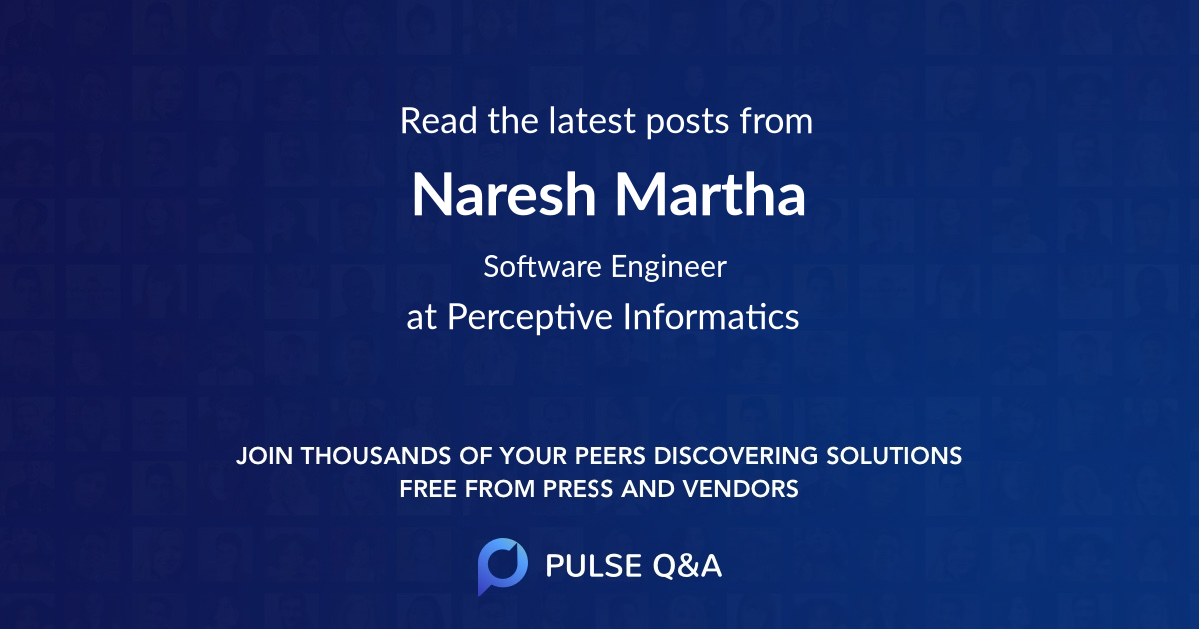 Naresh Martha