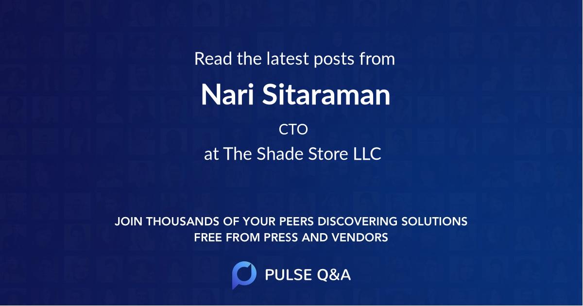 Nari Sitaraman