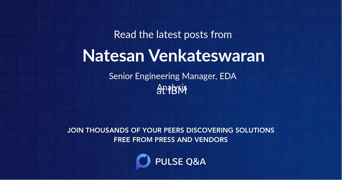 Natesan Venkateswaran