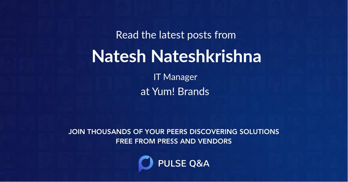 Natesh Nateshkrishna