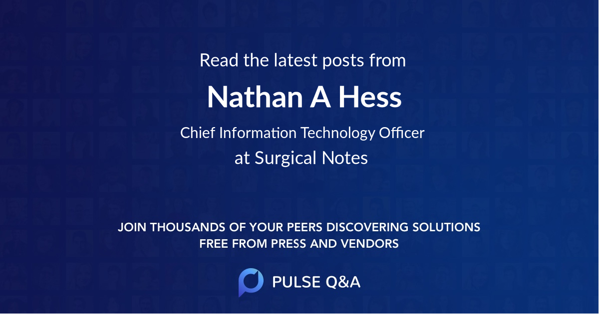 Nathan A. Hess