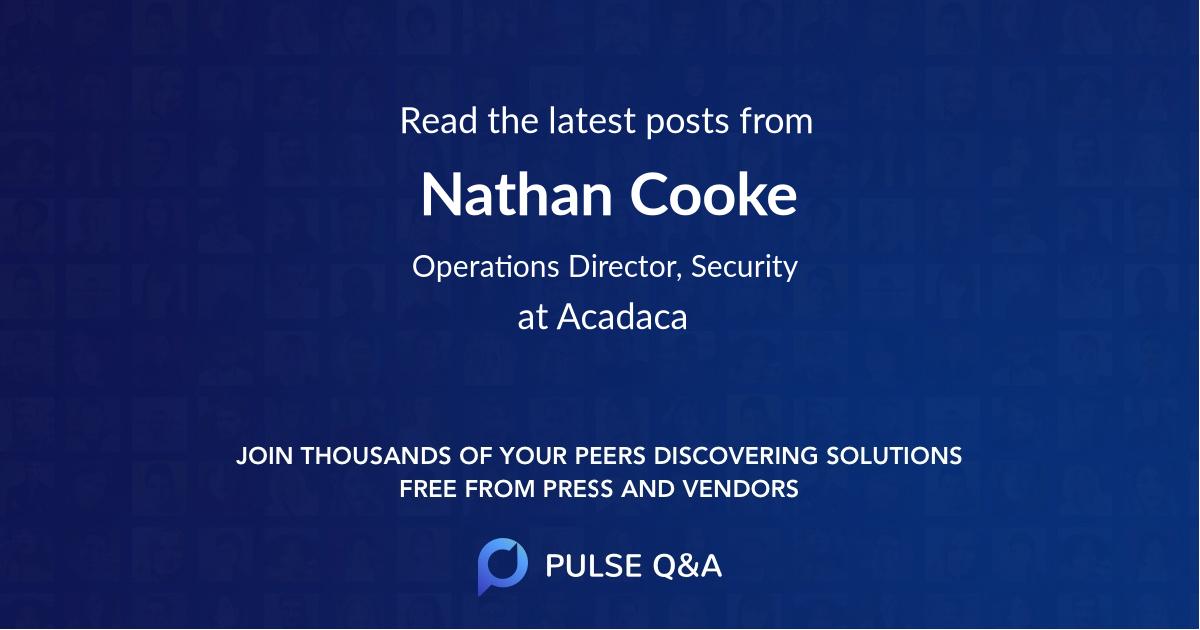 Nathan Cooke