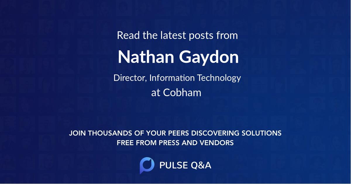 Nathan Gaydon