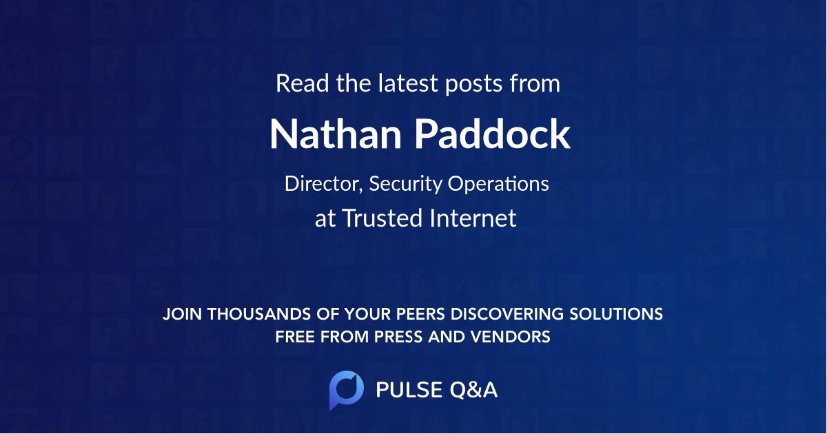 Nathan Paddock