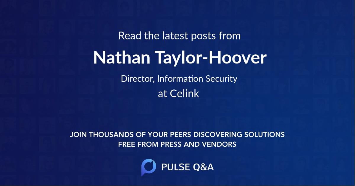 Nathan Taylor-Hoover