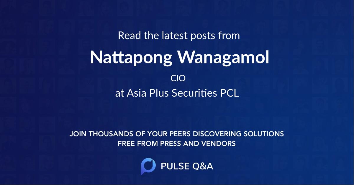 Nattapong Wanagamol