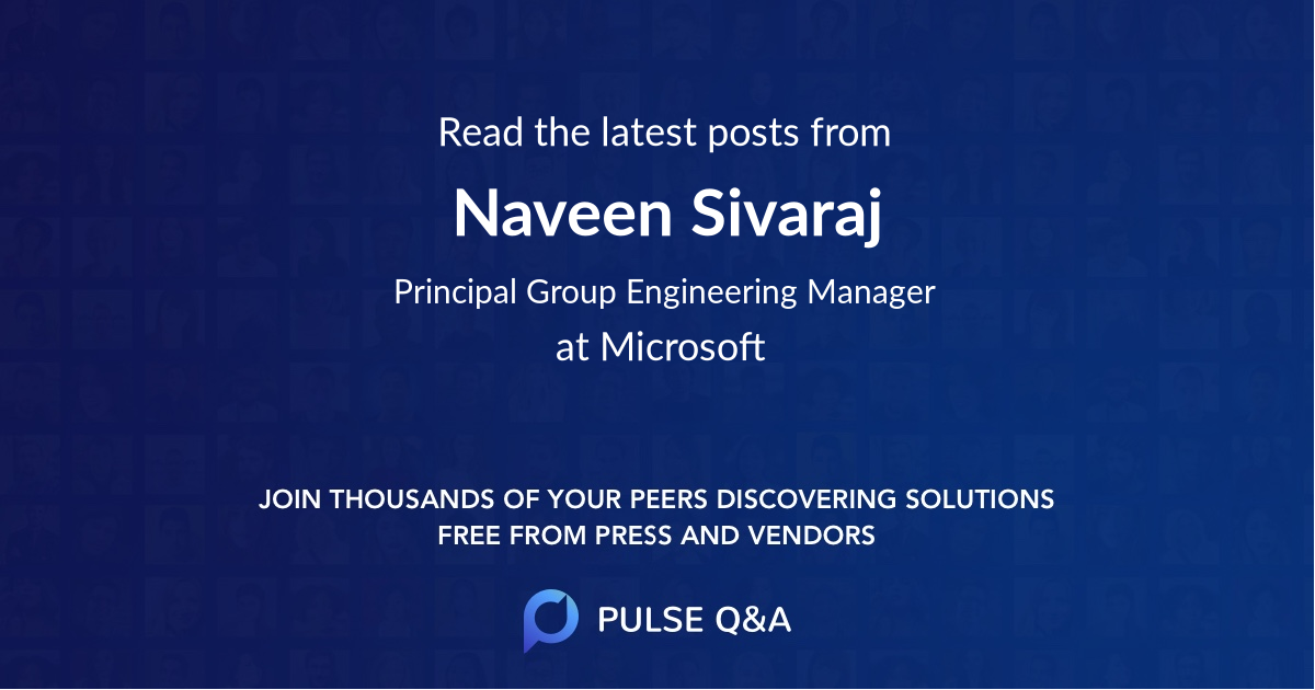 Naveen Sivaraj