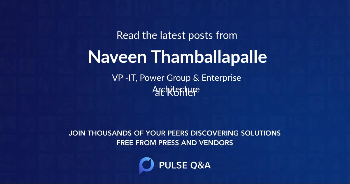 Naveen Thamballapalle