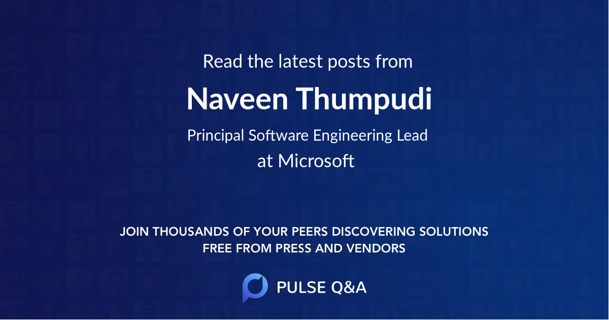 Naveen Thumpudi
