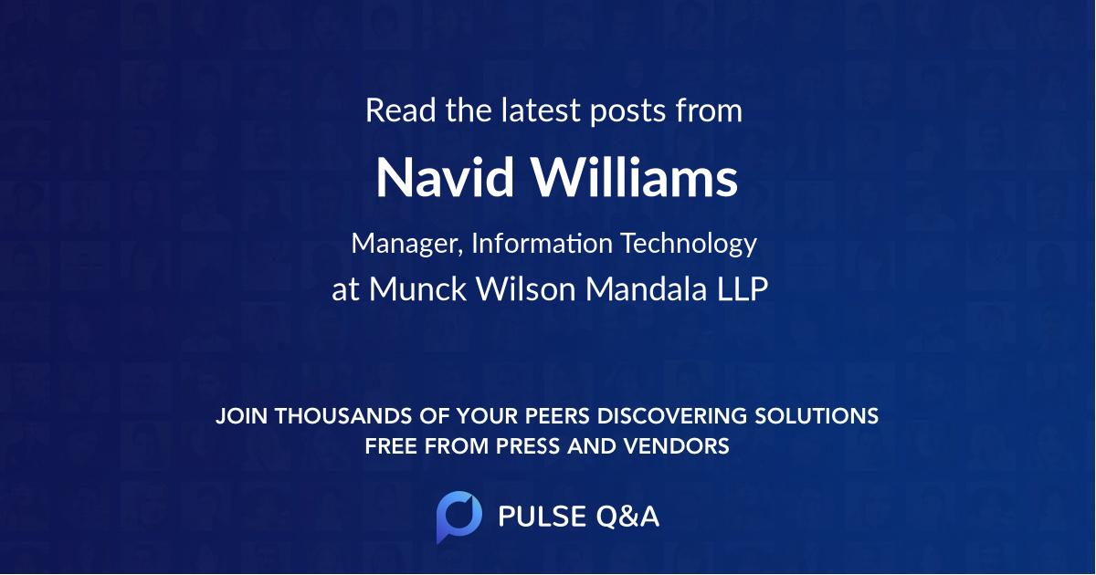 Navid Williams