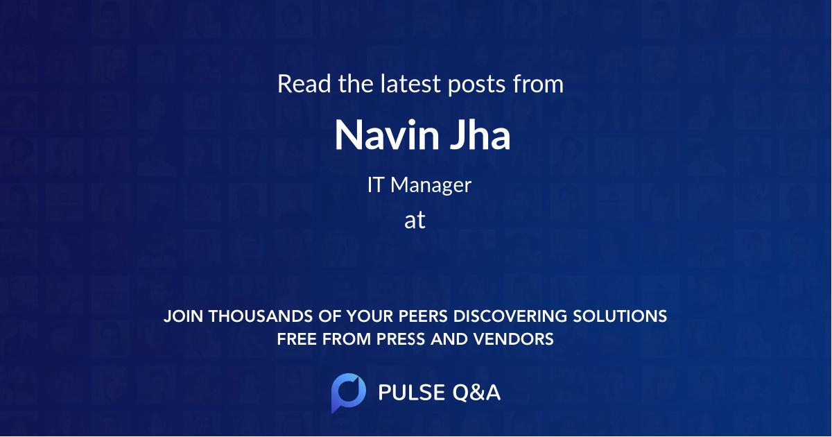 Navin Jha