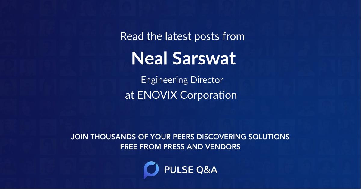 Neal Sarswat
