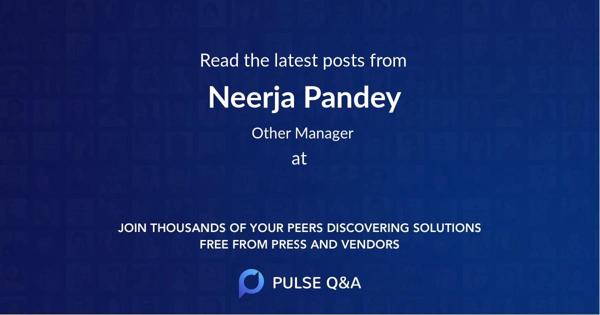 Neerja Pandey