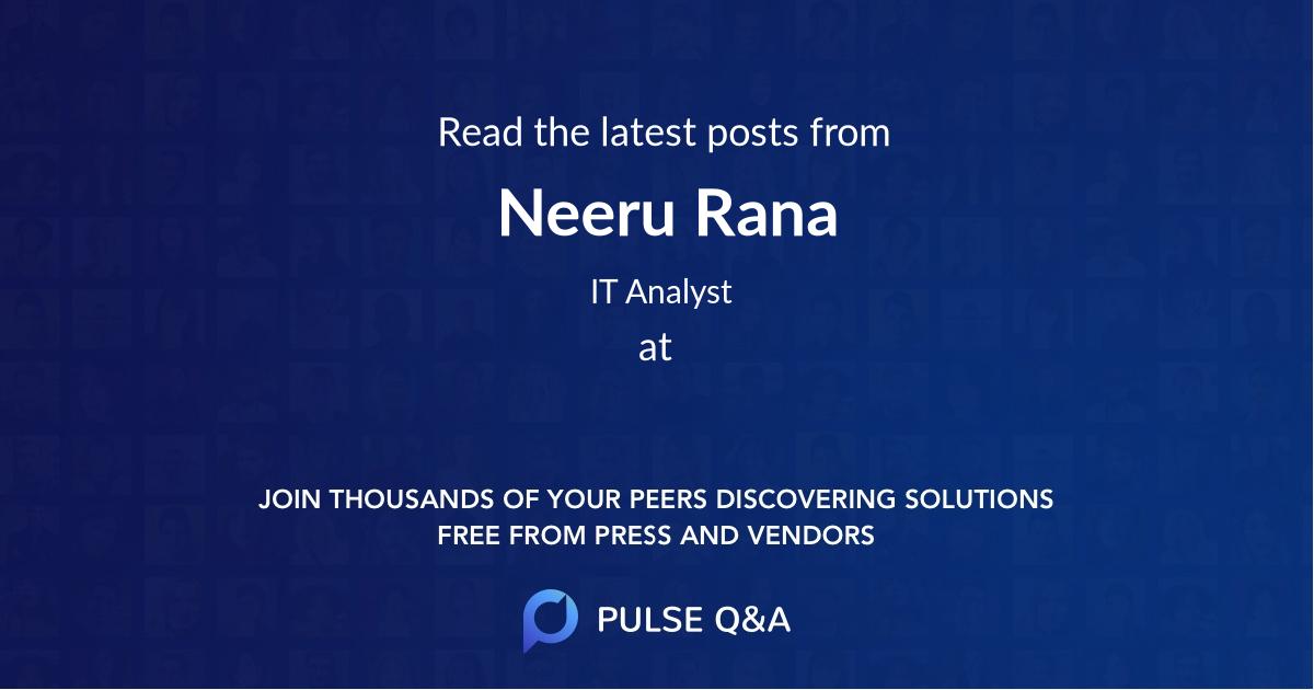 Neeru Rana