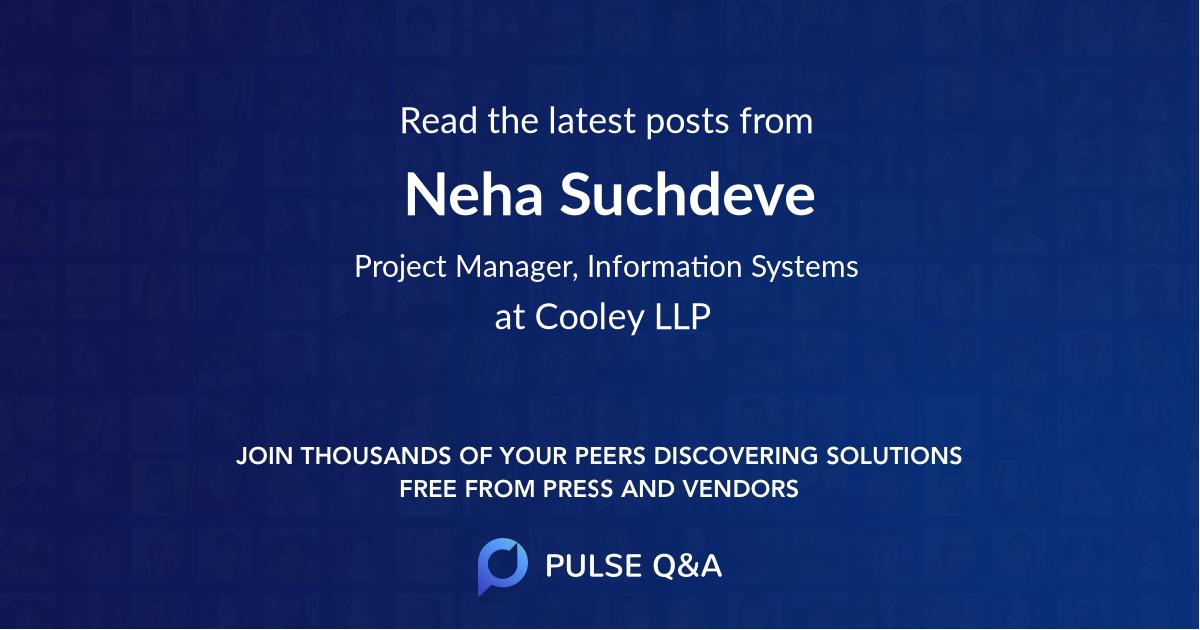 Neha Suchdeve