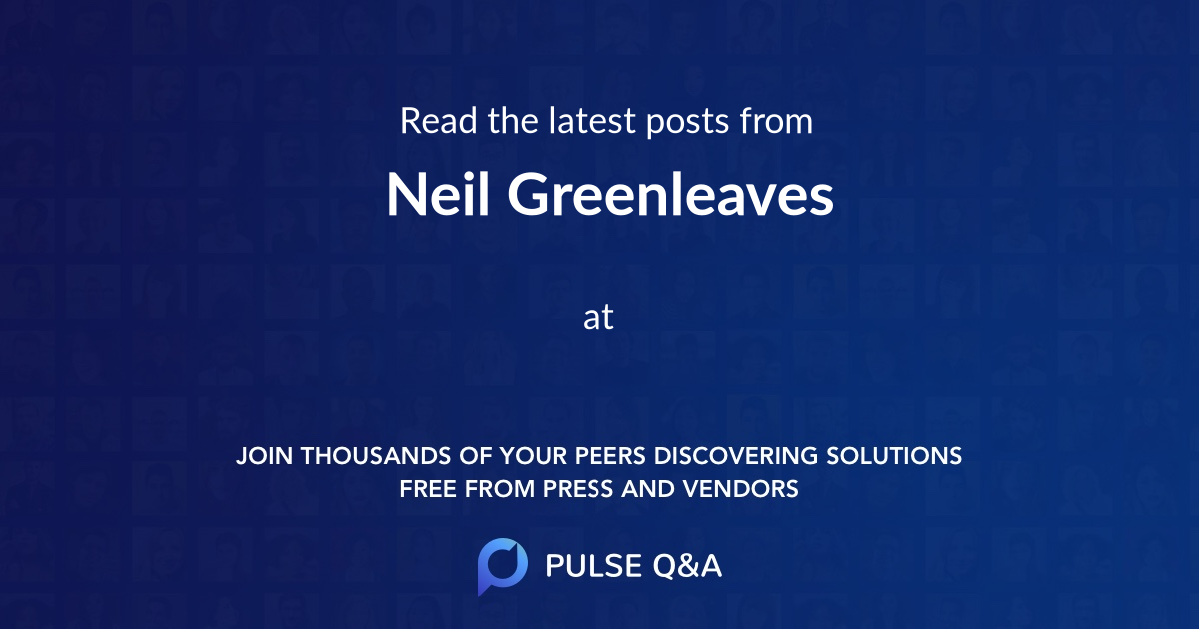 Neil Greenleaves