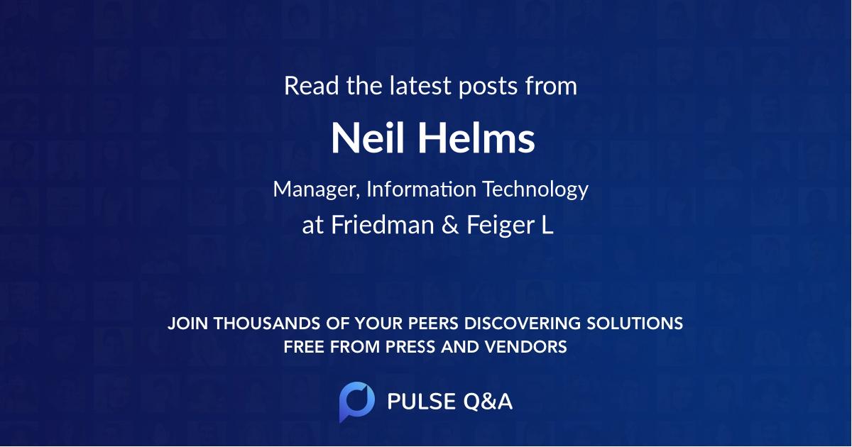 Neil Helms
