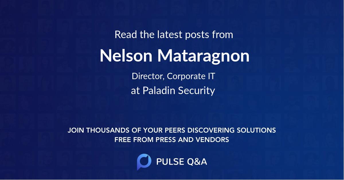 Nelson Mataragnon