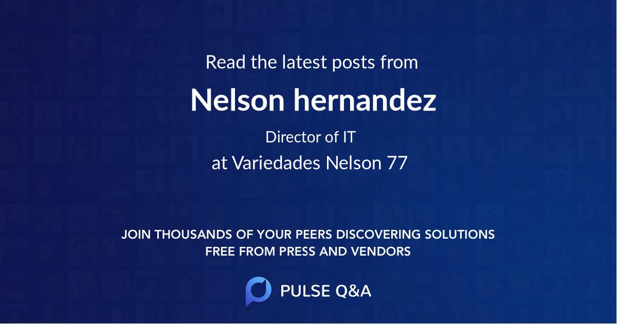 Nelson hernandez