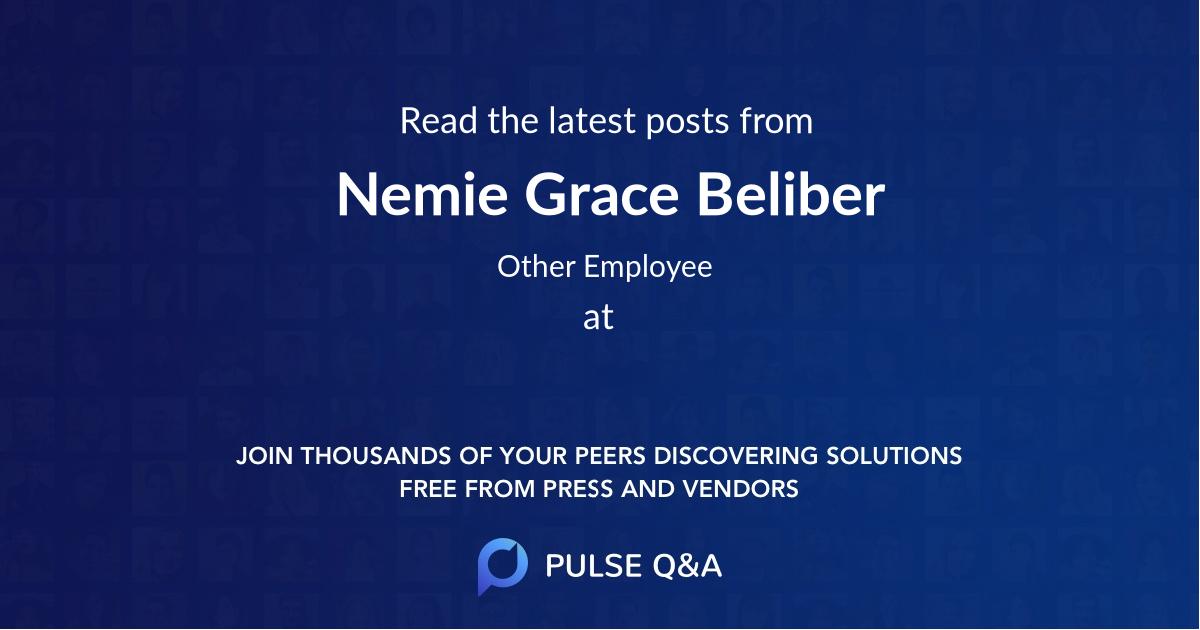 Nemie Grace Beliber