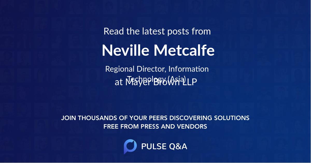 Neville Metcalfe