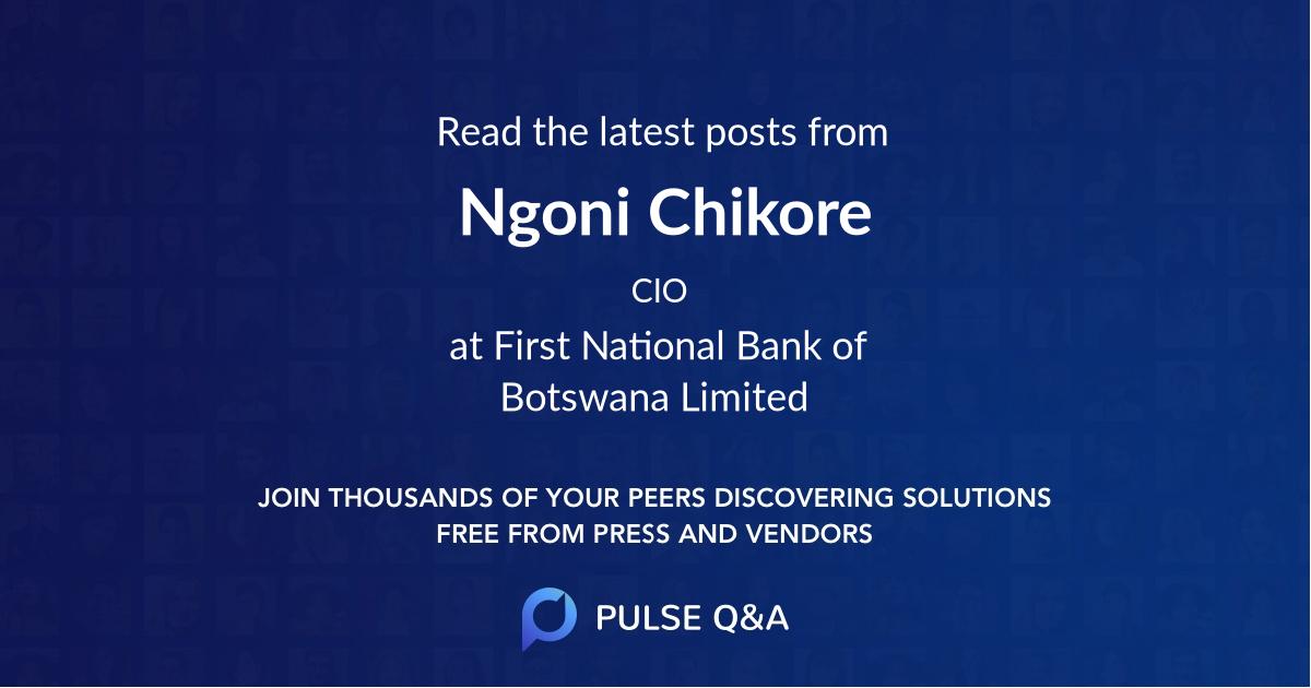 Ngoni Chikore