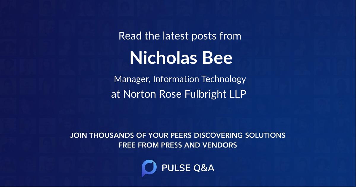 Nicholas Bee