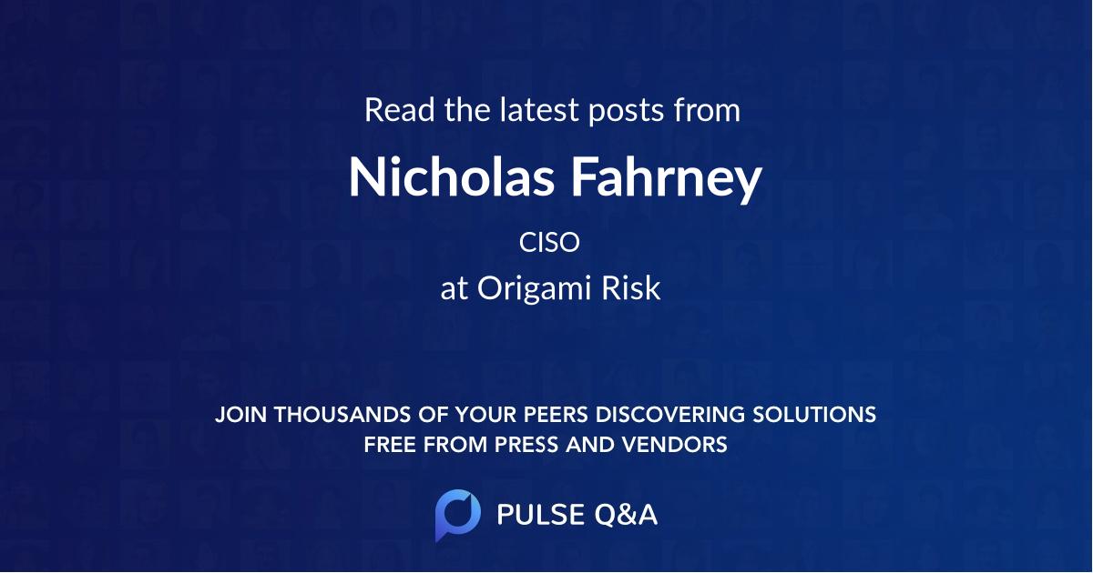 Nicholas Fahrney