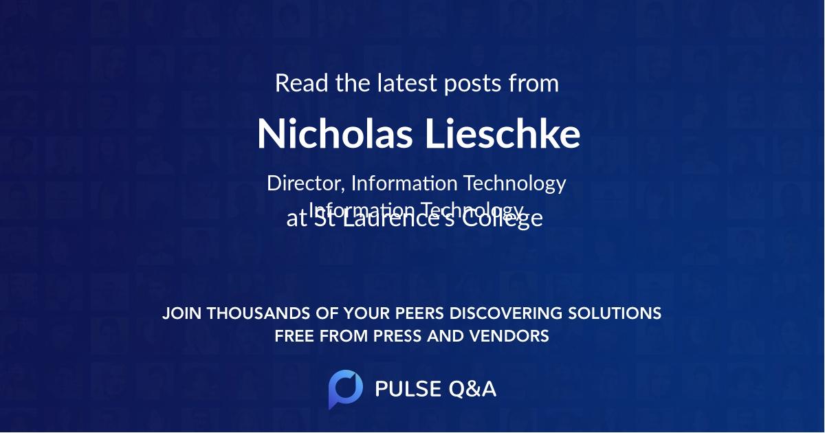 Nicholas Lieschke