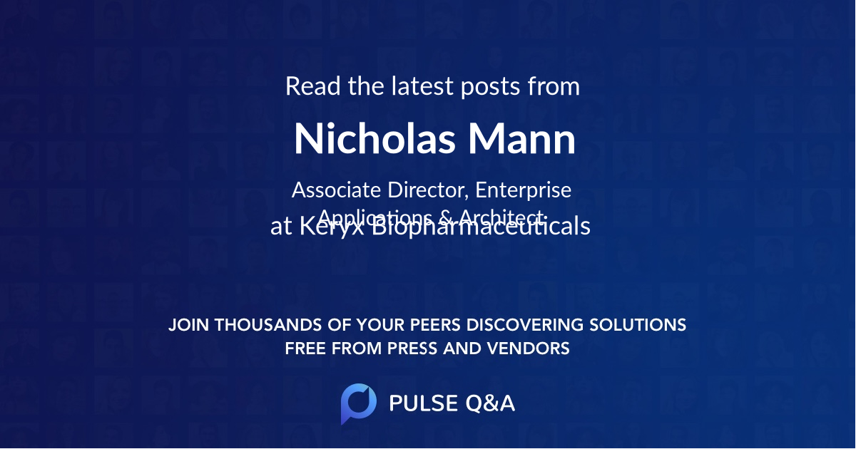 Nicholas Mann