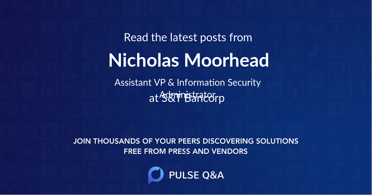Nicholas Moorhead