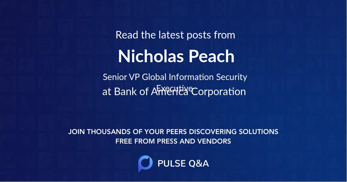 Nicholas Peach