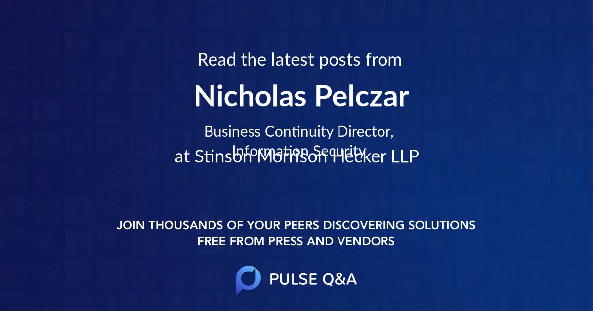 Nicholas Pelczar