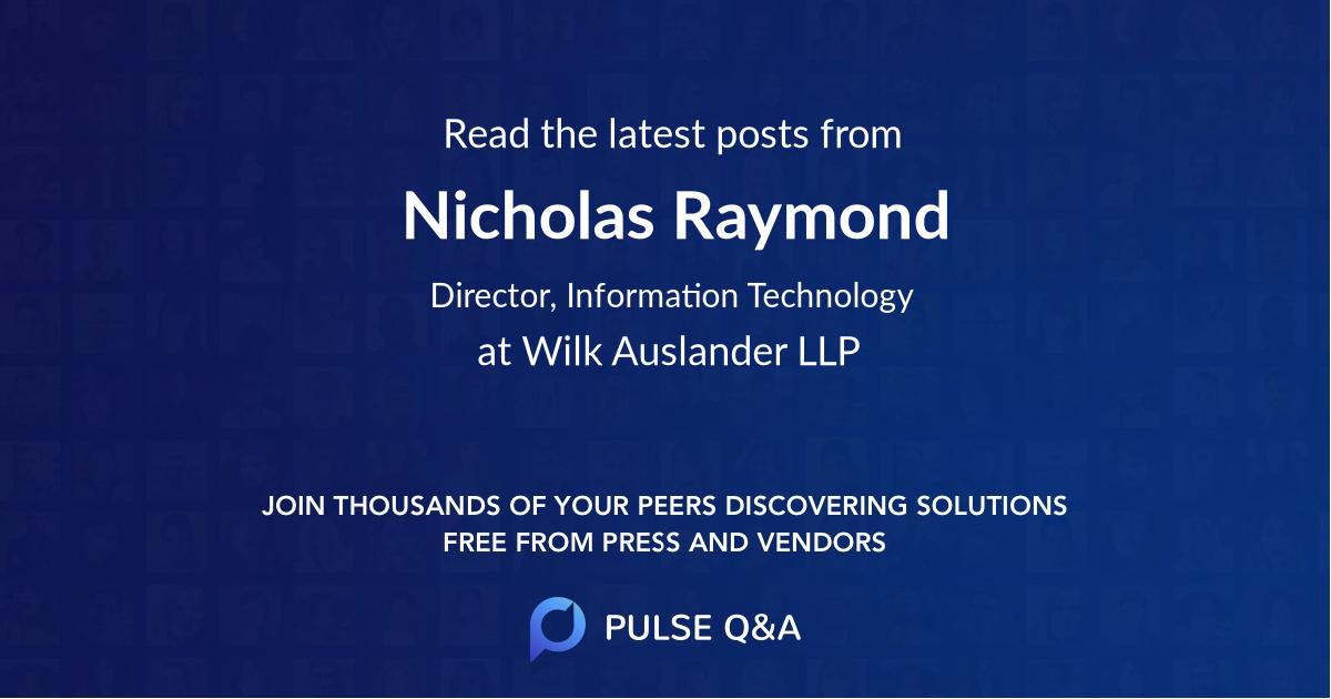 Nicholas Raymond