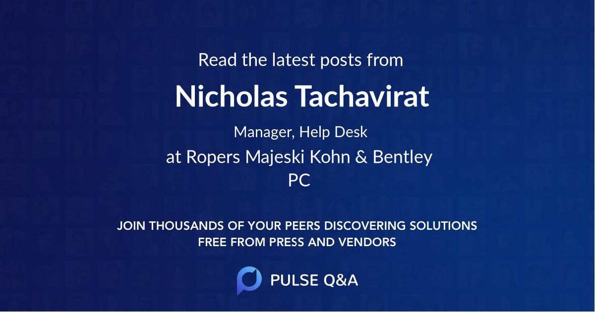 Nicholas Tachavirat