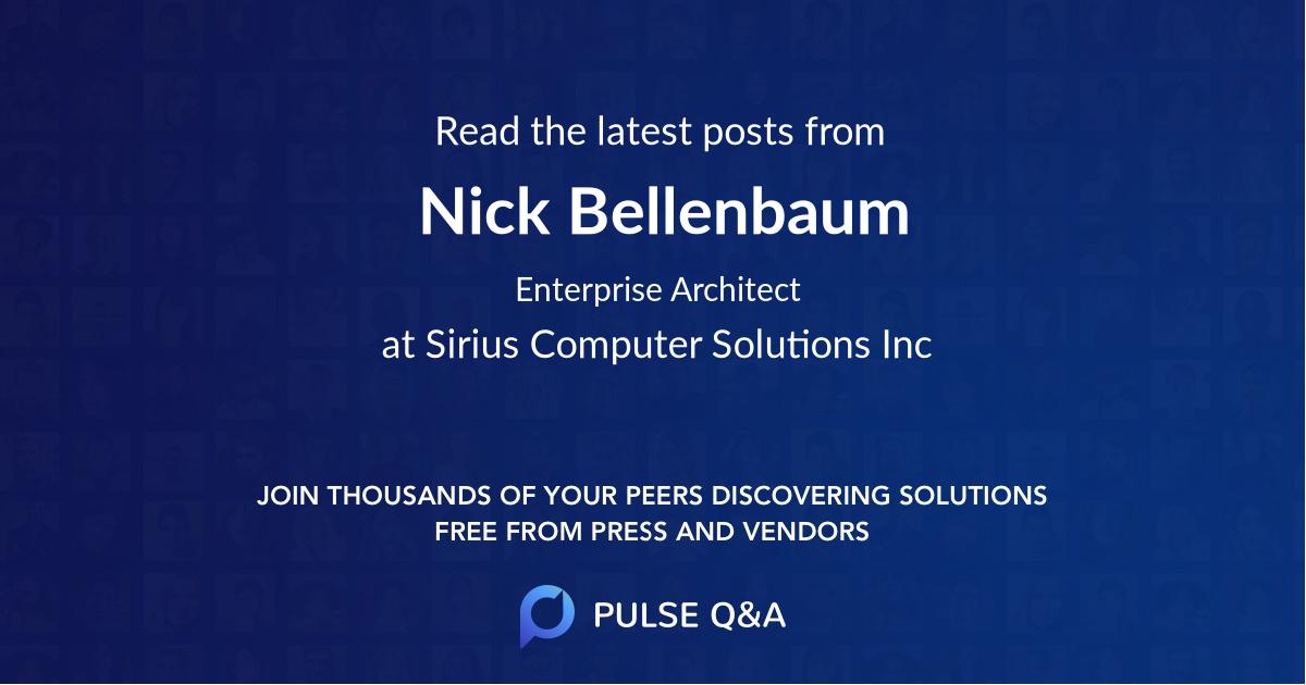 Nick Bellenbaum