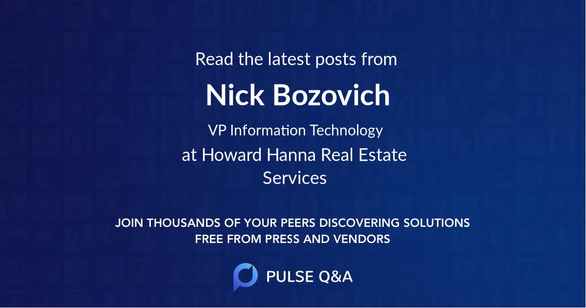 Nick Bozovich