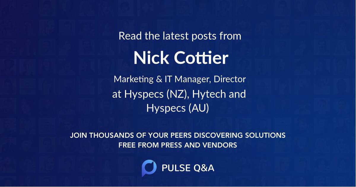 Nick Cottier