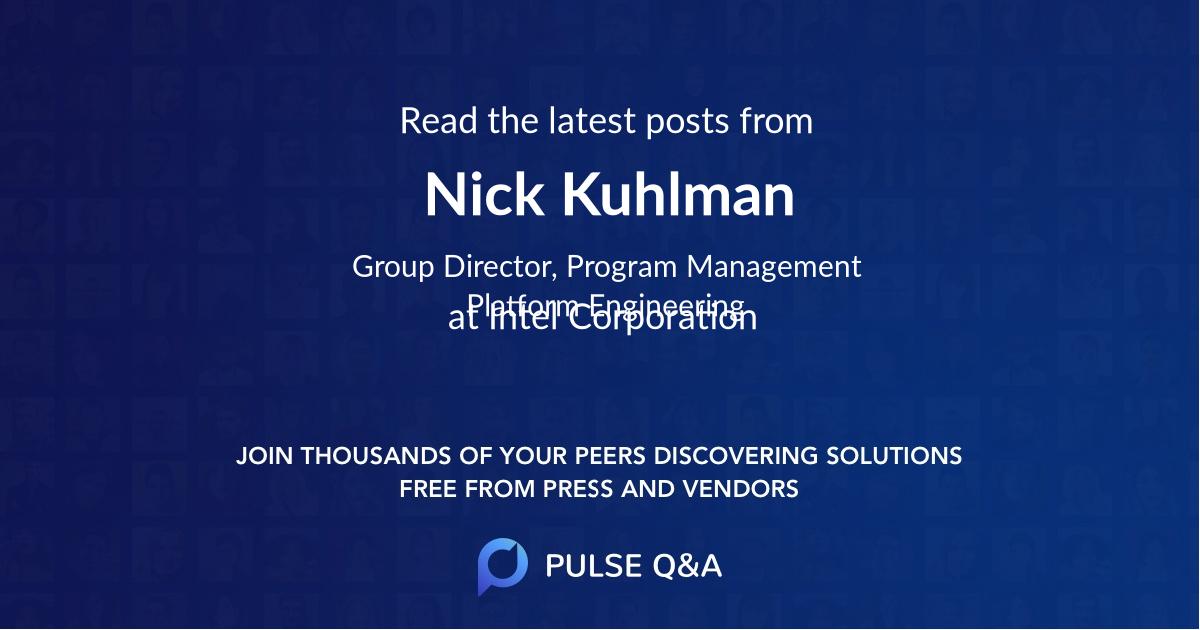 Nick Kuhlman